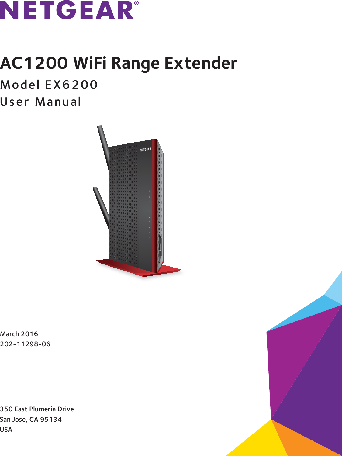 netgear wifi extender manual ex6200