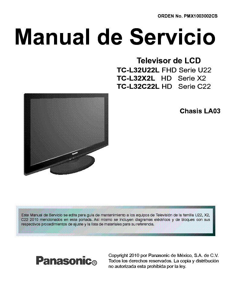 panasonic viera th-p54s10a manual