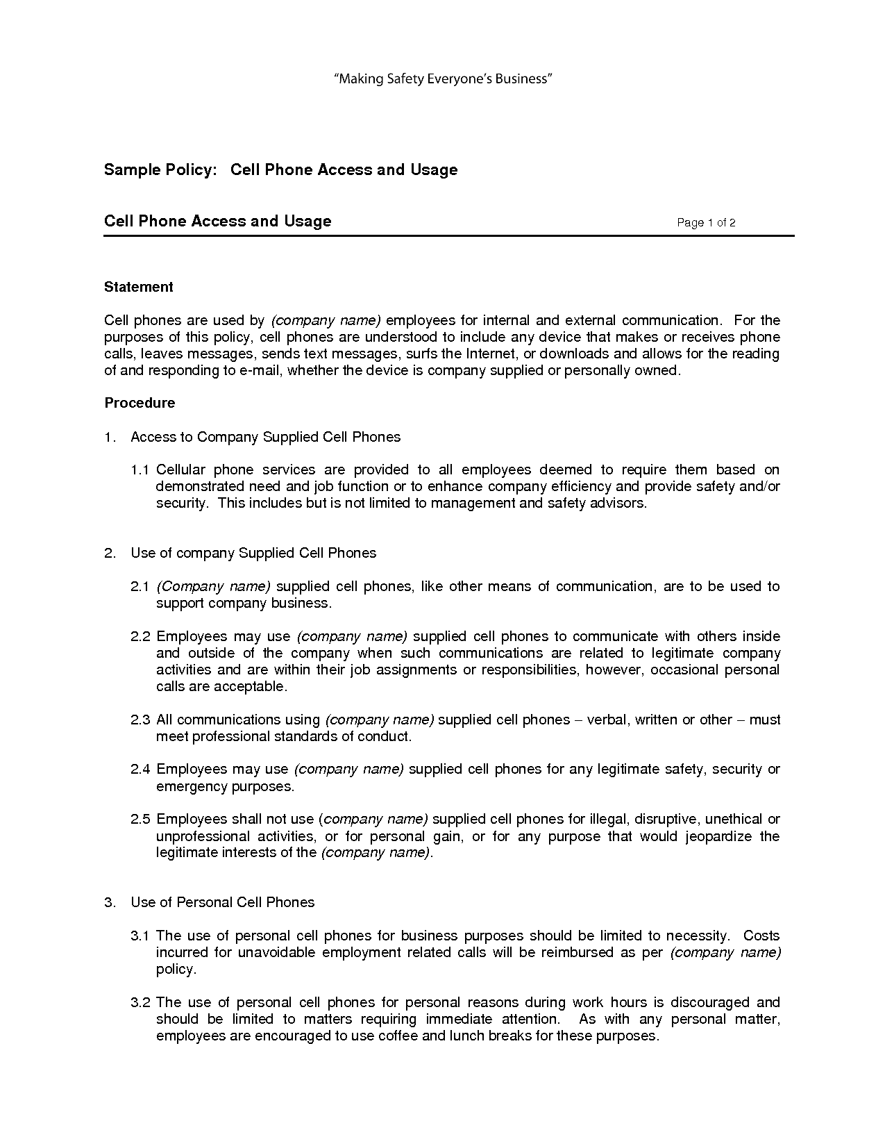 policies and procedures document real estate manual