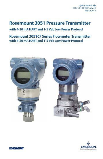 rosemount 2088 smart pressure transmitter manual