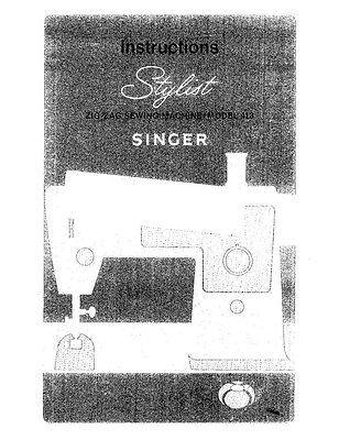 singer stylist 7258 owners manual