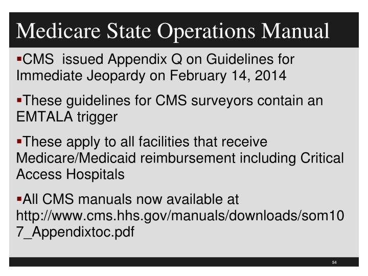 state operations manual appendix p