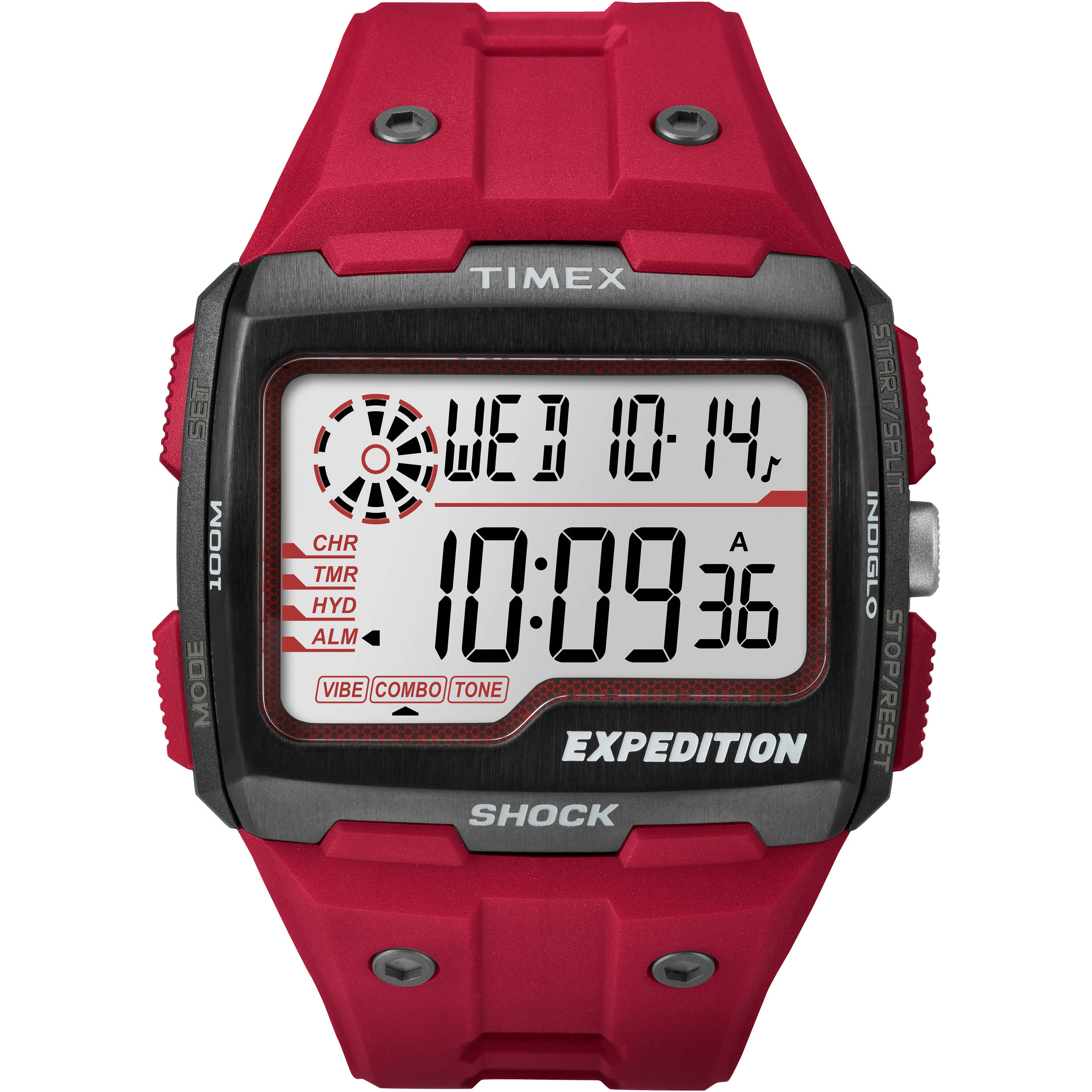 timex expedition water resistant 100m manual