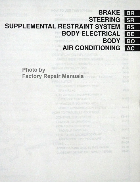 toyota paseo 1996 service manual